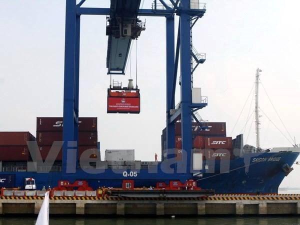 越南胡志明市努力把新港—富友港于明年一月份投运 hinh anh 1