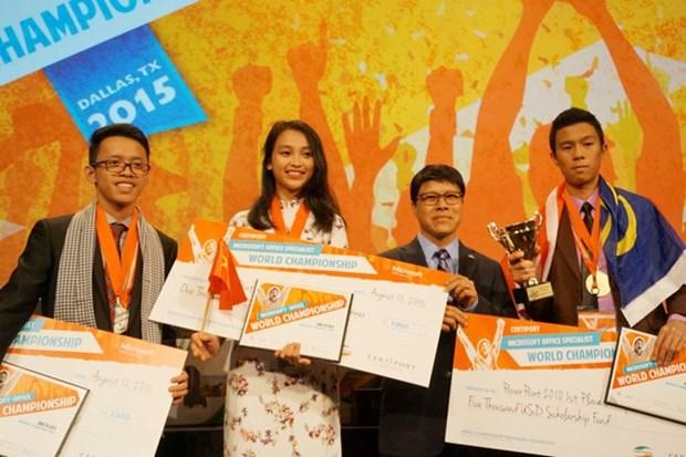 2015年微软办公软件世界大赛:越南选手夺得一枚铜牌 hinh anh 1