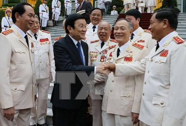 张晋创主席:加强公安力量建设出色完成党、国家和人民所赋予的任务 hinh anh 1