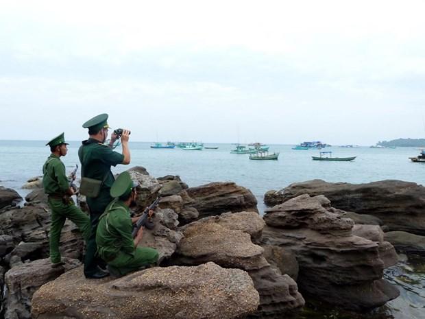 坚江省边防部队牢牢维护西南部边境地区安全 hinh anh 1