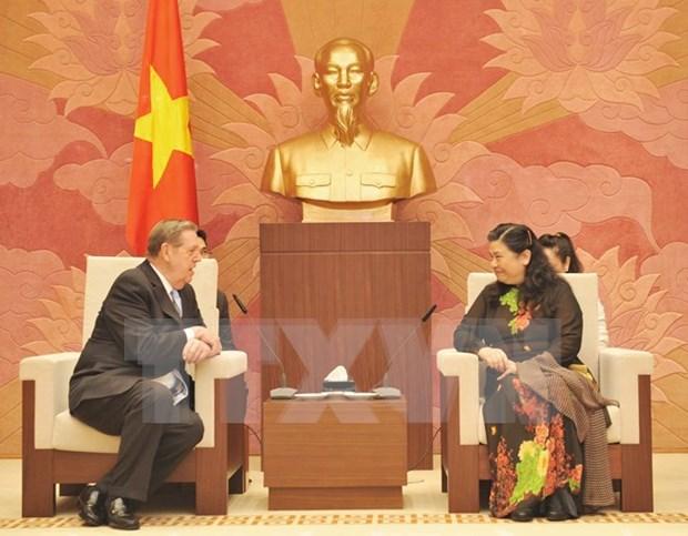 越南国会副主席丛氏放会见耶稣基督后期圣徒教会代表团 hinh anh 1