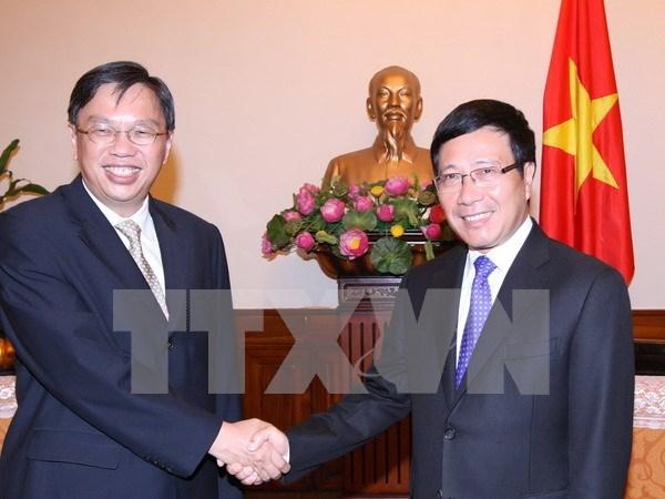 越南和新加坡外交部举行第九次政治磋商 hinh anh 1