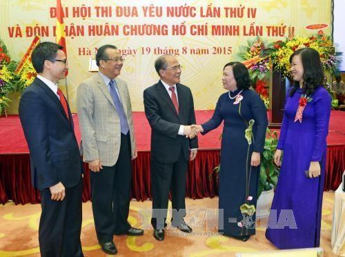 阮生雄主席出席越南劳动荣军与社会部门传统日70周年纪念典礼 hinh anh 1