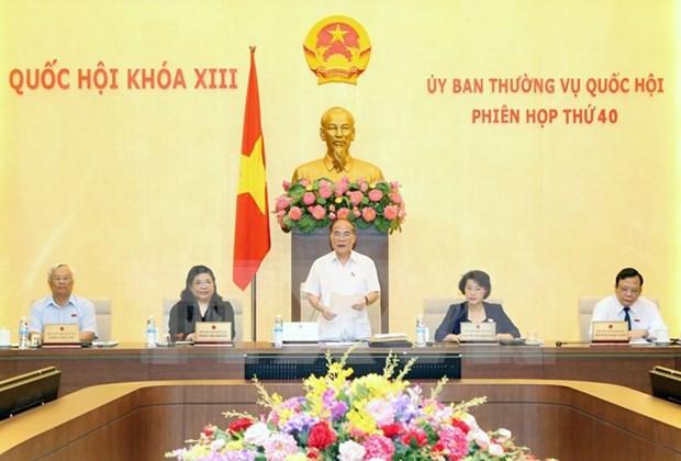 越南第十三届国会常务委员会第四十次会议发表公报 hinh anh 1