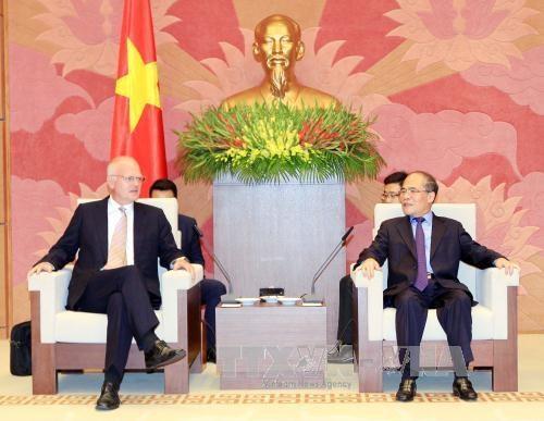 越南国会主席阮生雄会见欧盟驻越代表团团长法兰兹•叶森 hinh anh 1