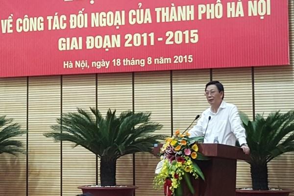 越南副外长胡春山:河内市对外工作在国家对外工作中扮演重要的角色 hinh anh 1