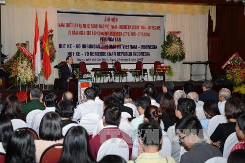 越南与印度尼西亚建交60周年纪念典礼在胡志明市举行 hinh anh 1