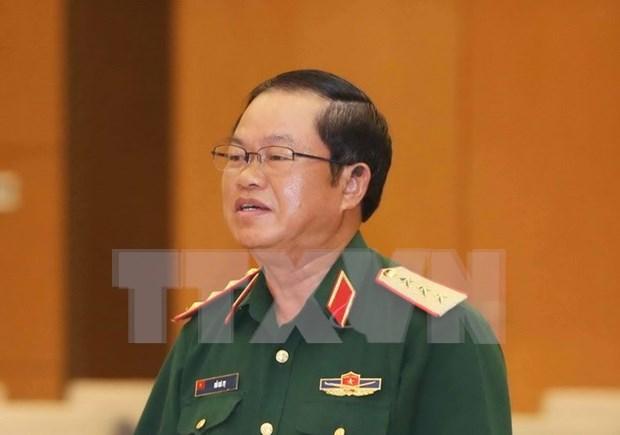 越南人民军高级军事代表团对老挝进行正式访问 hinh anh 1
