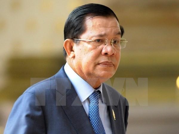 柬埔寨首相洪森:继续诽谤政府用假地图的任何人将被严治 hinh anh 1
