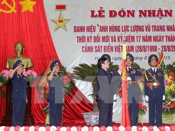 越南海警司令部荣获新时期人民武装力量英雄称号 hinh anh 1