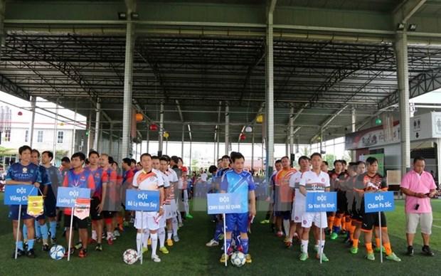 老挝越南人社群举行业余足球比赛 庆祝越南国庆70周年 hinh anh 1
