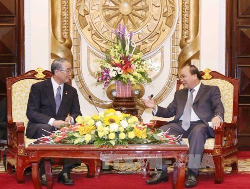 阮春福副总理:越南努力改善投资环境吸引日本等外国投资商 hinh anh 1