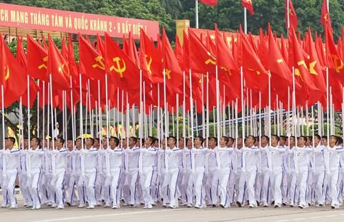 庆祝九·二国庆70周年的盛大阅兵和游行活动在巴亭广场举行 hinh anh 3