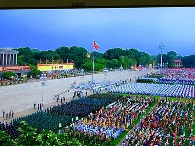 庆祝九·二国庆70周年的盛大阅兵和游行活动在巴亭广场举行 hinh anh 1