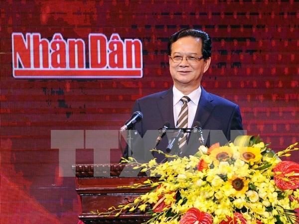 越南《人民报》社的人民电视频道正式开播 hinh anh 1