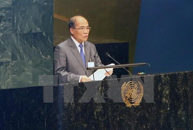 越南国会主席阮生雄圆满结束出席第四次世界议长大会之行 hinh anh 1