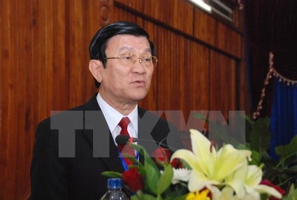 越南国家主席张晋创赴华出席世界反法西斯战争胜利70周年纪念活动 hinh anh 1