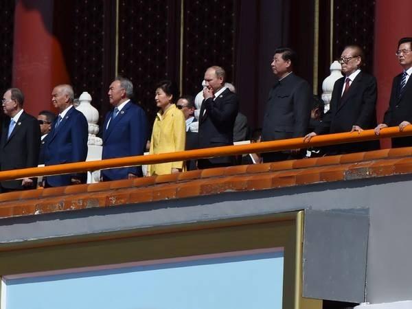 越南国家主席张晋创出席在中国北京举行的世界反法西斯战争胜利70周年纪念大会 hinh anh 1