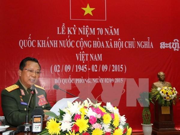 老挝国防部举行集会庆祝越南国庆70周年 hinh anh 1