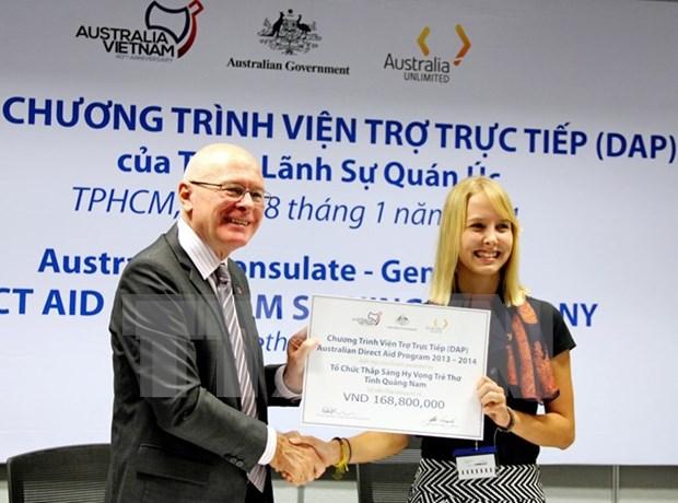 澳大利亚拟向越南中部和南部提供35.5万澳元的直接援助 hinh anh 1