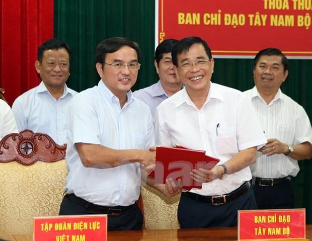 越南西南部事务指导委员会同越南电力集团签署合作协议 hinh anh 1