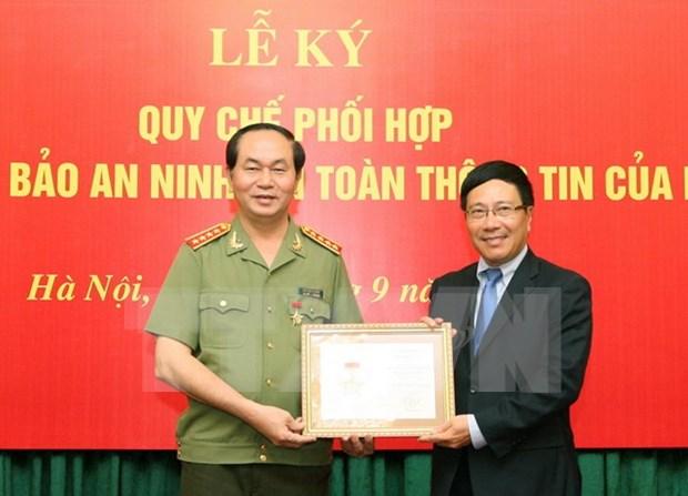 越南外交部和公安部加强配合确保信息安全 hinh anh 1