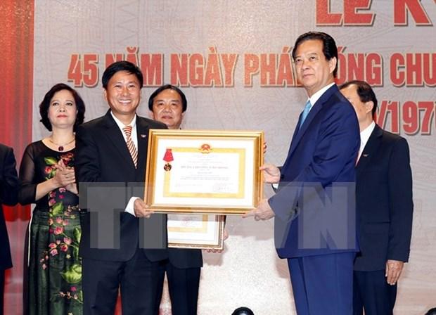 越南国家电视台开播45周年纪念典礼在河内举行 hinh anh 1