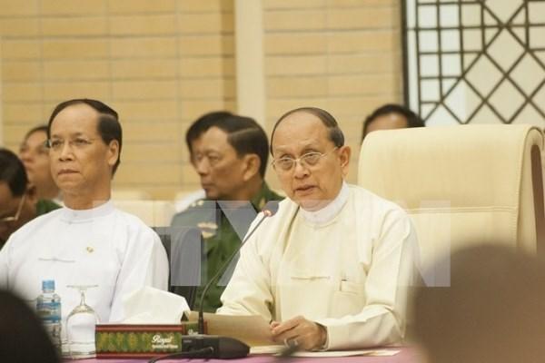 缅甸总统敦促民族武装尽快签署全国停火协议 hinh anh 1