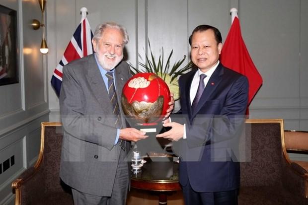 武文宁副总理会见英国首相特使大卫·普特南 hinh anh 1