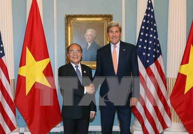 越南国会主席阮生雄会见美国国务卿约翰•克里 hinh anh 1