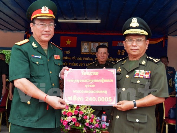 越南国防部援建柬埔寨皇家军队军官培训学校办公楼 hinh anh 1