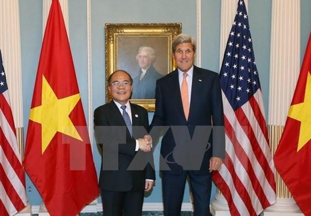 越南国会主席圆满结束访问美国和出席第四次世界议长大会之行 hinh anh 1