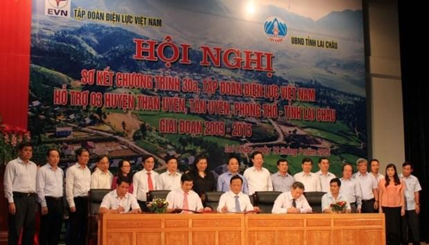越南电力集团资助莱州省加快减贫和可持续减贫 hinh anh 1
