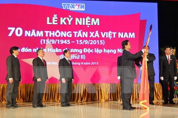 阮晋勇总理出席越南通讯社成立70周年纪念典礼 hinh anh 1