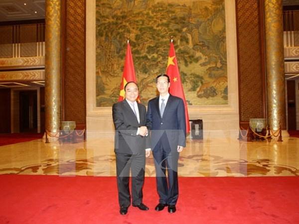 越南政府副总理阮春福与中国国务院副总理张高丽举行会谈 hinh anh 1