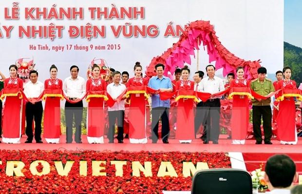 越南政府总理阮晋勇出席永昂1号热电厂落成典礼 hinh anh 1