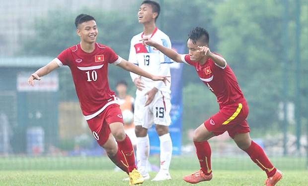 2016年亚洲U16青年锦标赛预赛:越南队5比1狂胜缅甸队 hinh anh 1