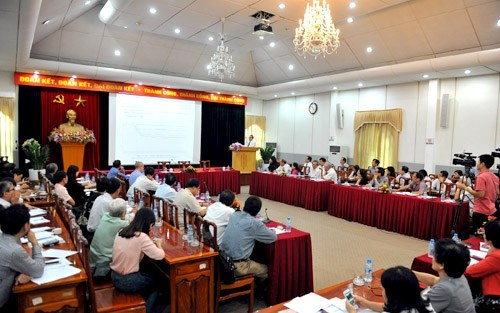祖国阵线与人口发展政策对话会在河内举行 hinh anh 1
