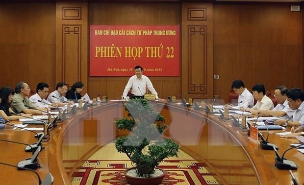 越南国家主席张晋创主持召开中央司法改革指导委员会第22次会议 hinh anh 1
