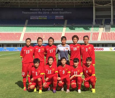 2016奥运会女足亚洲区第二轮预选赛:越南队2比1击败约旦队 hinh anh 1