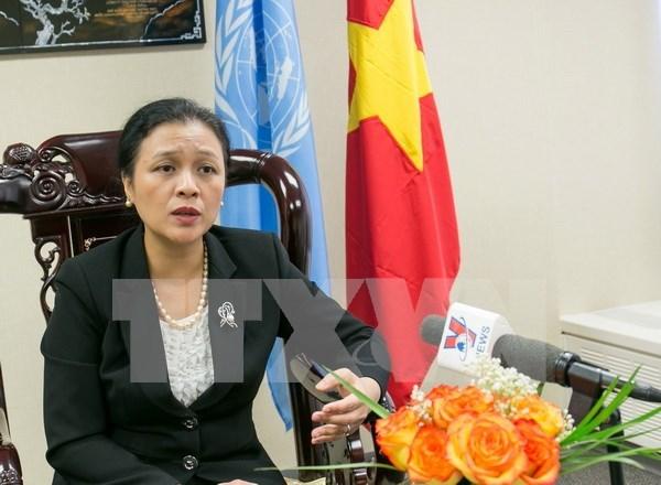 越南继续发挥自己在维护和强化国际法和联合国宪章基本原则中的作用 hinh anh 1