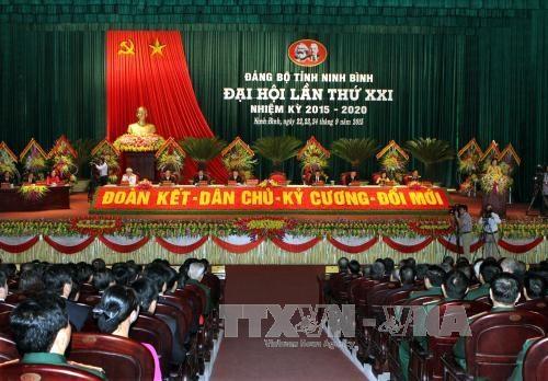 阮善仁同志出席越共宁平省第二十一次代表大会 hinh anh 1