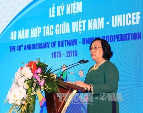 越南在儿童发展方面取得了许多积极进展 hinh anh 2