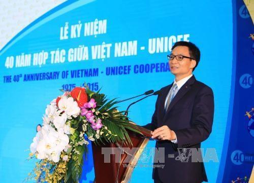 越南在儿童发展方面取得了许多积极进展 hinh anh 1