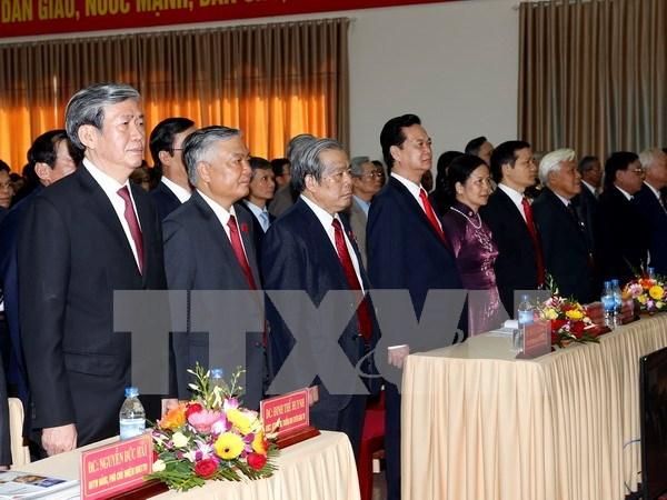 阮晋勇总理出席越南共产党广治省第十六次代表大会 hinh anh 1