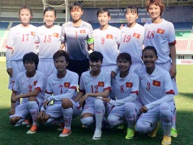 越南女足队正式晋级2016奥运会女足亚洲区第三轮预选赛 hinh anh 1