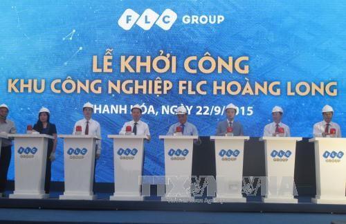 越南清化省黄龙FLC工业区正式动工兴建 hinh anh 1