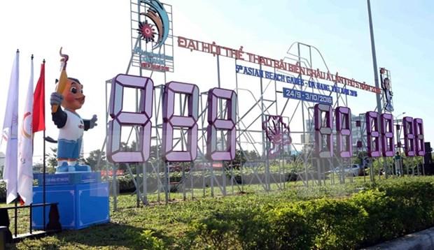 第五届亚洲沙滩运动会一周年倒计时仪式在岘港市举行 hinh anh 1