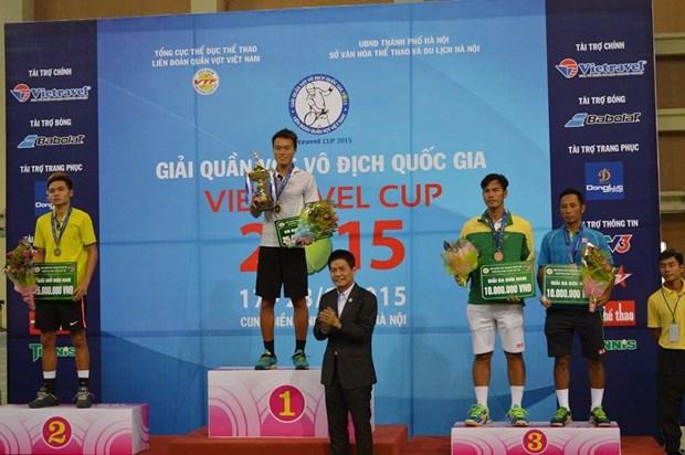 2015年越南国家网球锦标赛闭幕 hinh anh 1