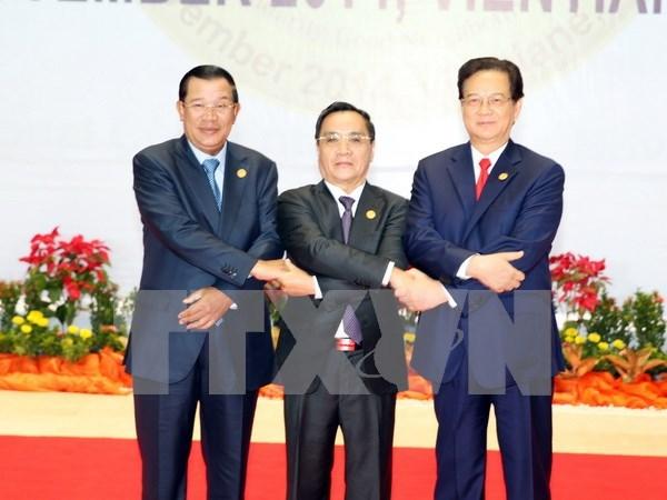 越老柬三角开发区贸易便利化协定第三轮谈判在老挝举行 hinh anh 1